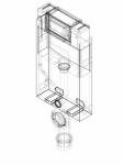 Element de instalare Geberit Kombifix pentru WC suspendat 106 cm cu rezervor incastrat Omega 12 cm