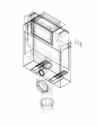 Element de instalare Geberit Kombifix pentru WC suspendat 82 cm cu rezervor incastrat Omega 12 cm