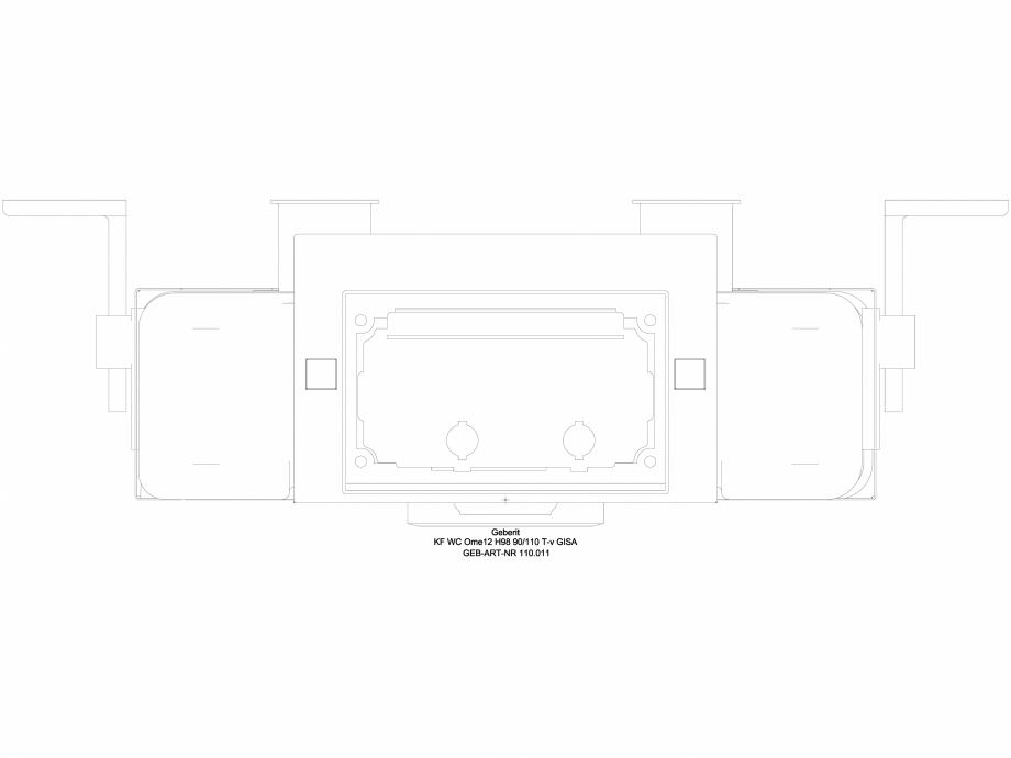 Pagina 1 - CAD-DWG Element de instalare Geberit Kombifix pentru WC suspendat, 98 cm, cu rezervor...