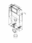 Element de instalare Geberit Kombifix pentru WC suspendat 98 cm cu rezervor incastrat Omega 12 cm
