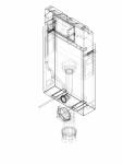 Element de instalare Geberit KombifixBasic pentru WC suspendat 108 cm cu rezervor incastrat Delta 12 cm