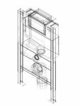 Element de instalare Geberit Duofix pentru WC suspendat 82 cm cu rezervor incastrat Omega 12 cm