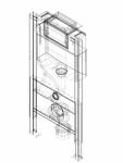 Element de instalare Geberit Duofix pentru WC suspendat 98 cm cu rezervor incastrat Omega 12 cm