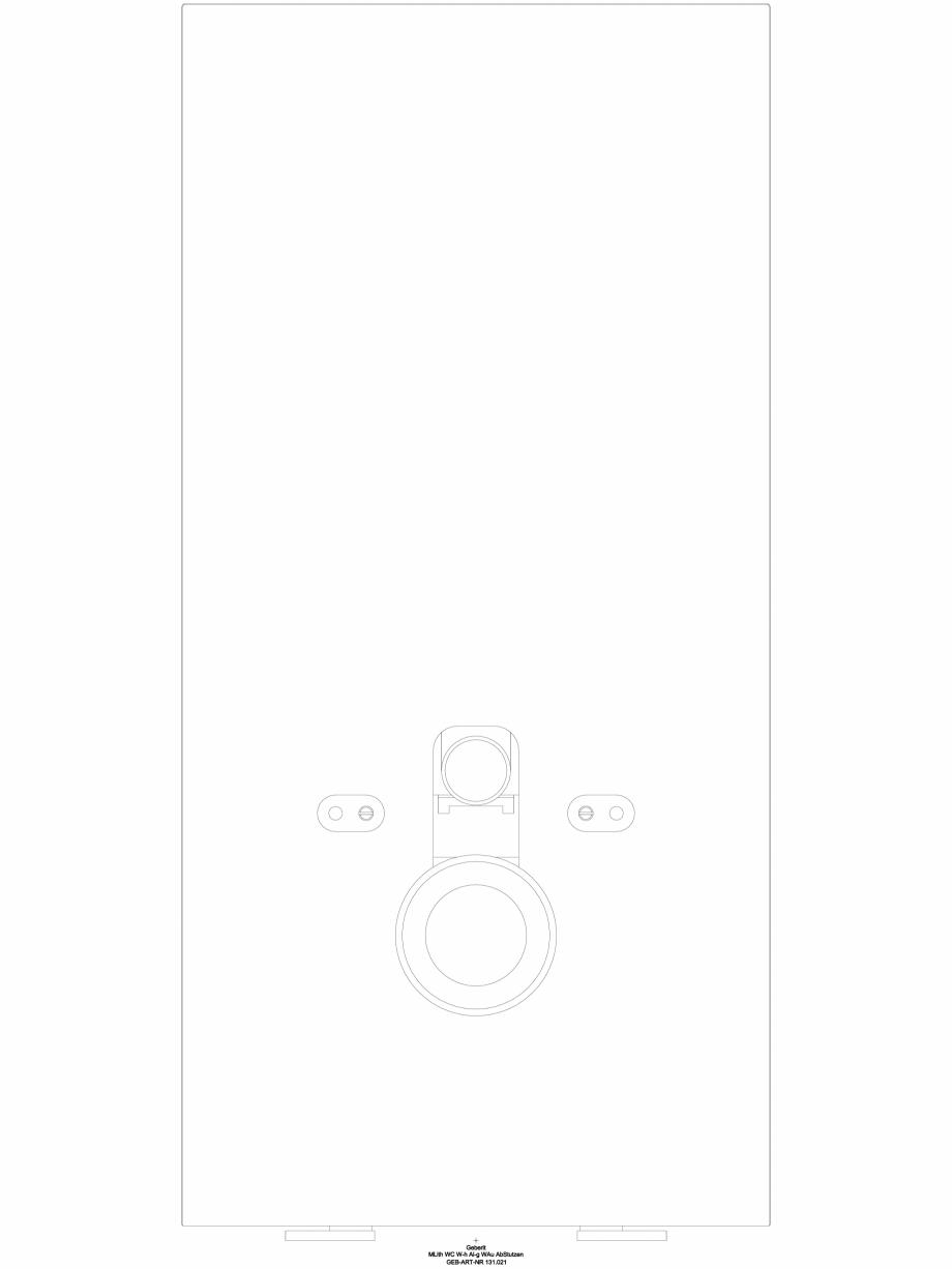 Pagina 1 - CAD-DWG Modul sanitar Geberit Monolith pentru vas WC suspendat, 101 cm cod 131.021.SQ.5_A...