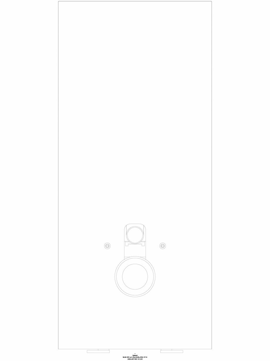 Pagina 1 - CAD-DWG Modul sanitar Geberit Monolith pentru vas WC suspendat, 114 cm cod 131.031.SJ.5_A...