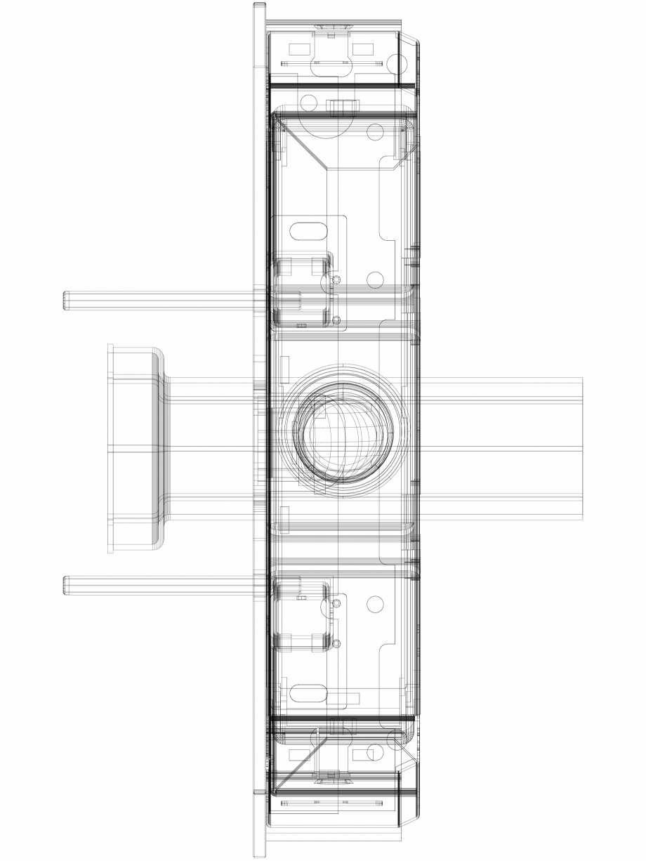 Pagina 1 - CAD-DWG Modul sanitar Geberit Monolith pentru vas WC suspendat, 114 cm cod 131.031.SJ.5_P...