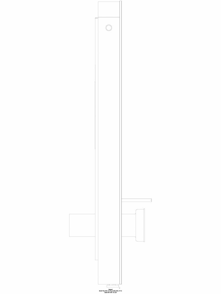 Pagina 1 - CAD-DWG Modul sanitar Geberit Monolith Plus pentru vas WC suspendat, 114 cm cod 131.231...