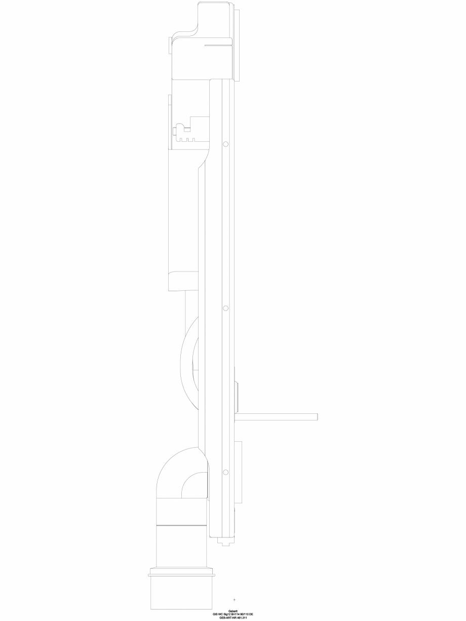 Pagina 1 - CAD-DWG Element de instalare Geberit GIS pentru WC suspendat, 114 cm, cu rezervor...