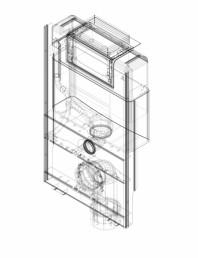 Element de instalare Geberit GIS pentru WC suspendat 87 cm cu rezervor incastrat Omega 12 cm
