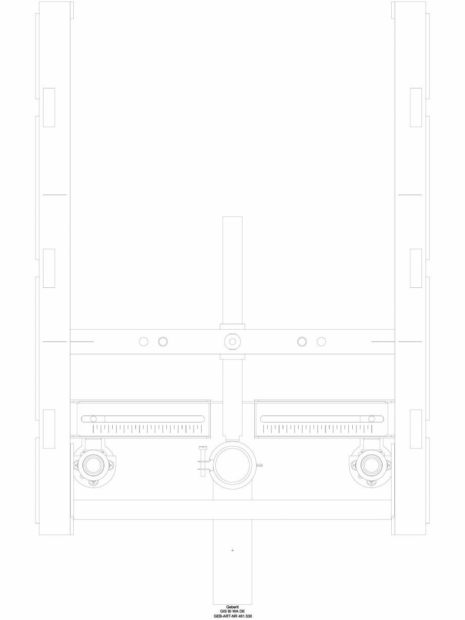 Pagina 1 - CAD-DWG Element de instalare Geberit GIS pentru bideu, universal cod 461.530.00.1_A...