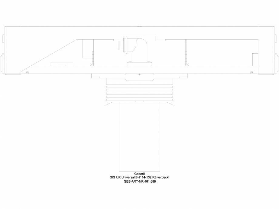 Pagina 1 - CAD-DWG Element de instalare Geberit GIS pentru pisoar, 114–132 cm, universal,...
