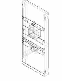Element de instalare Geberit GIS pentru pisoar 114–132 cm universal pentru sistem mascat de comanda a
