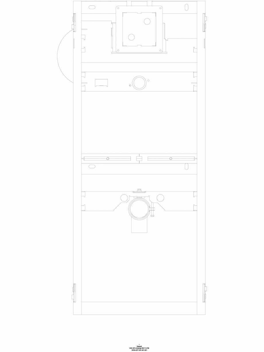 Pagina 1 - CAD-DWG Element de instalare Geberit GIS pentru pisoar, 114 cm, universal cod 461.621.00....