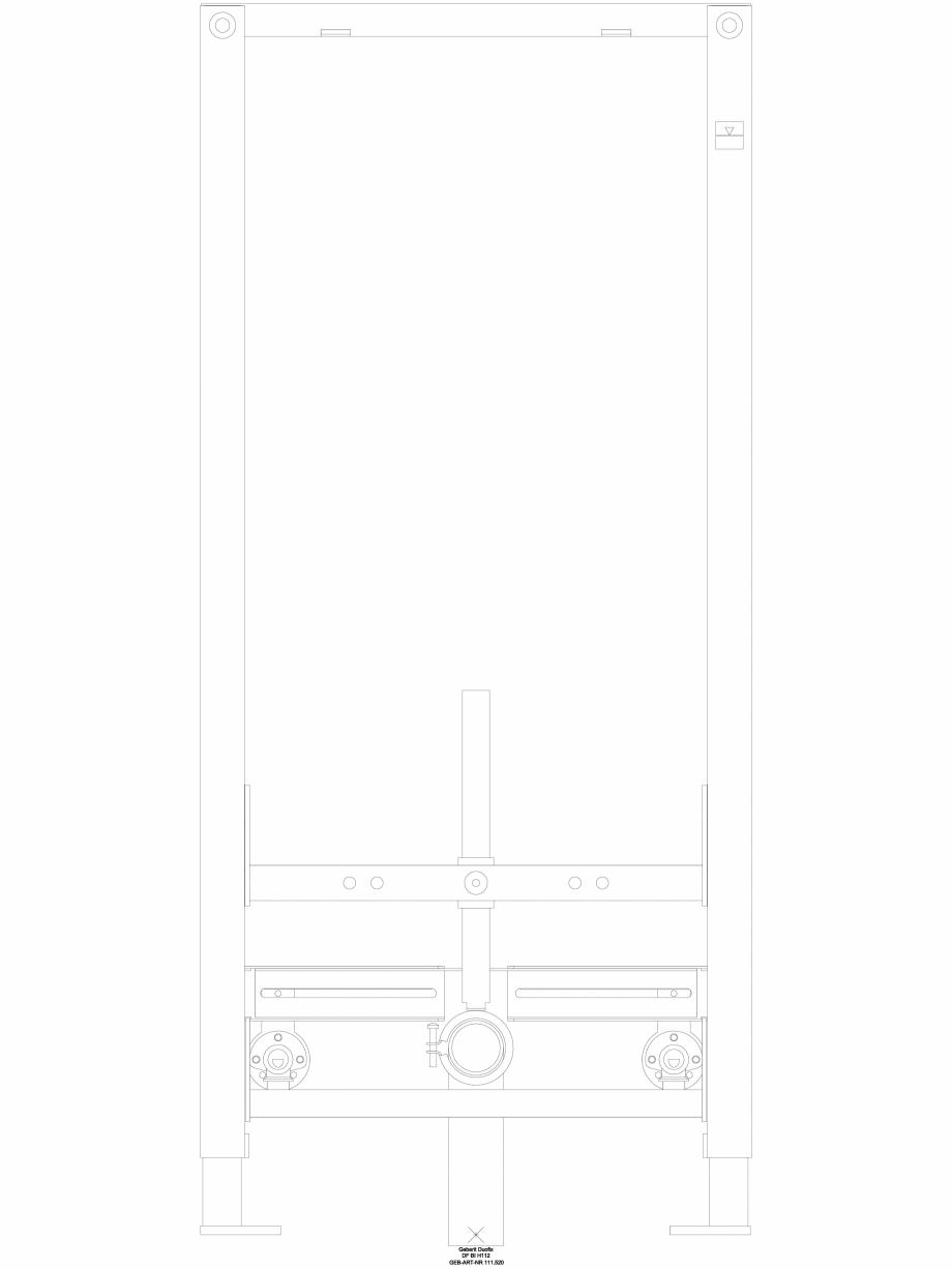Pagina 1 - CAD-DWG Element de instalare Geberit Duofix pentru bideu, 112 cm, universal cod 111.520...