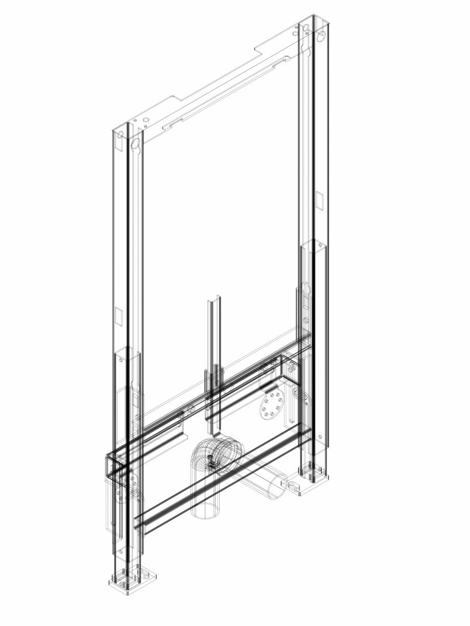 Pagina 1 - CAD-DWG Element de instalare Geberit Duofix pentru bideu, 98 cm, universal cod 111.539.00...