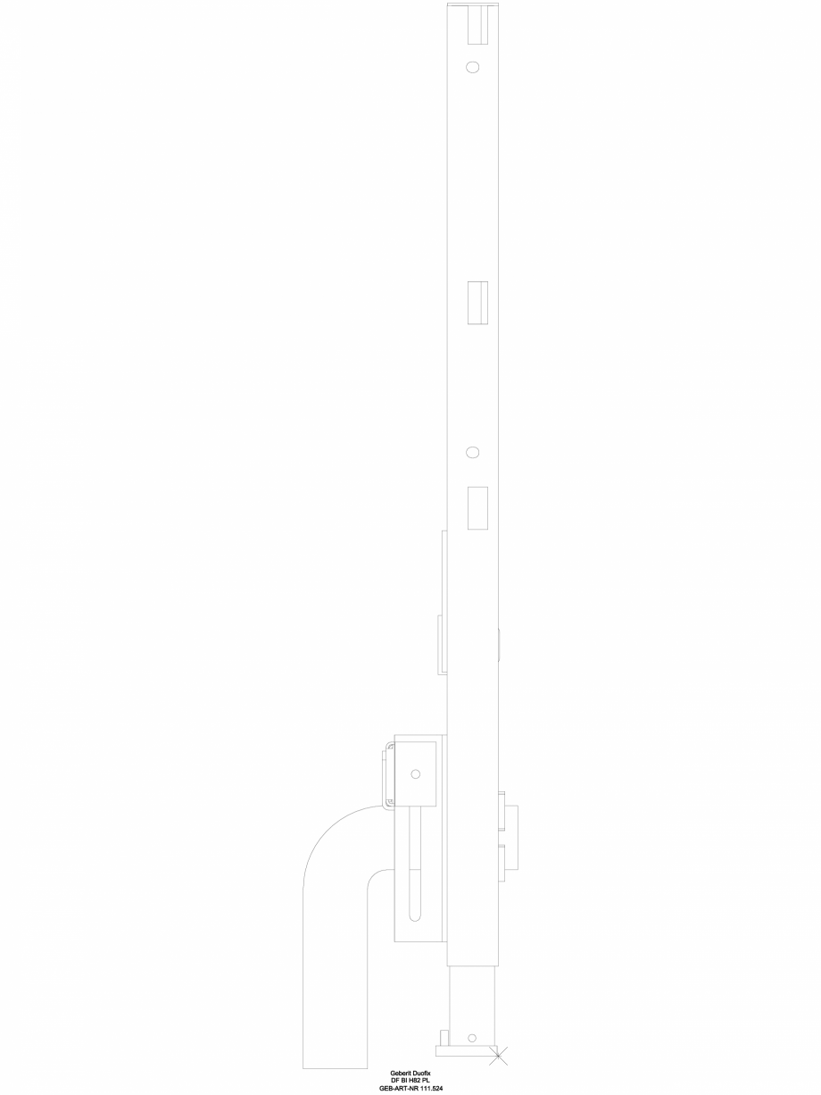Pagina 1 - CAD-DWG Element de instalare Geberit Duofix pentru bideu, 82 cm, universal cod 111.524.00...