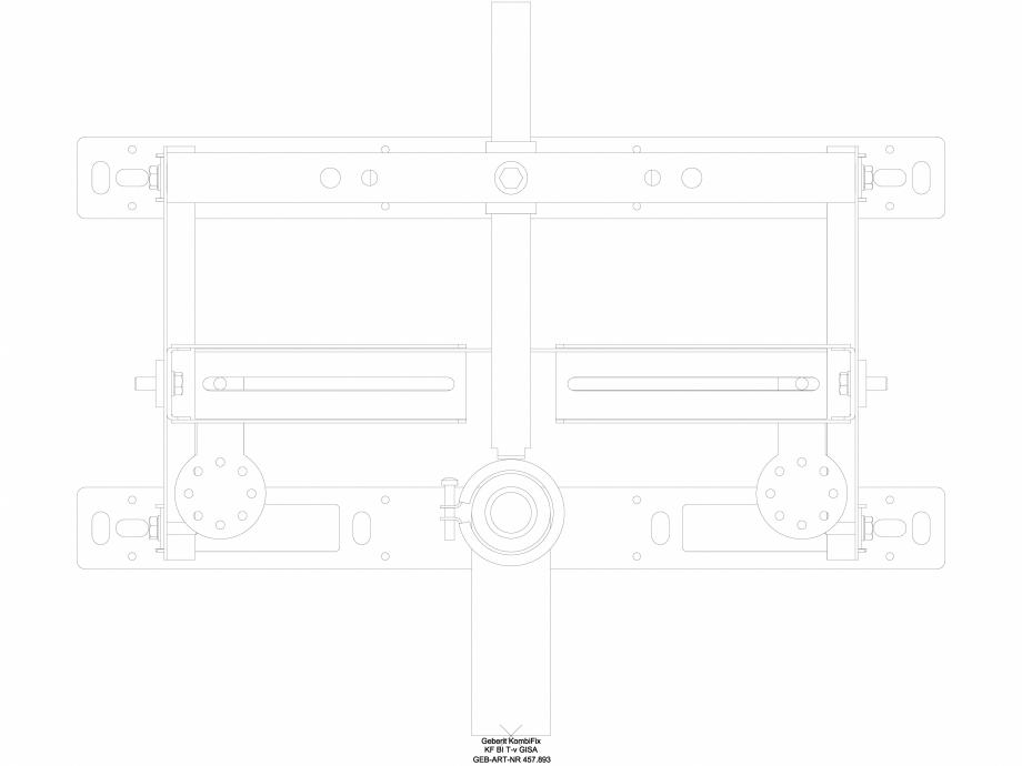Pagina 1 - CAD-DWG Element de instalare Geberit Kombifix pentru bideu, universal cod 457.893.00.1_A ...