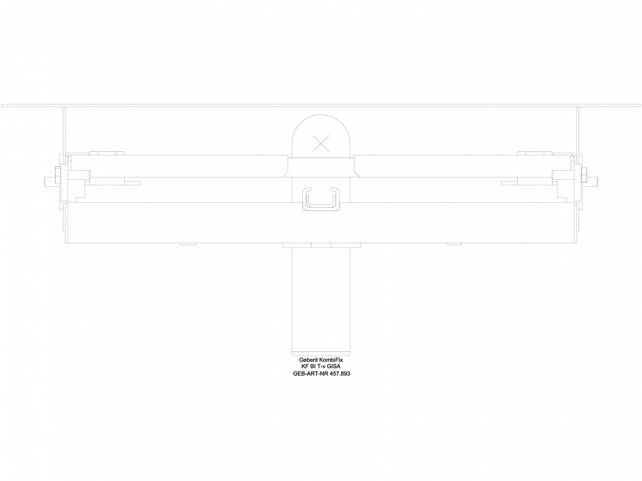 Pagina 1 - CAD-DWG Element de instalare Geberit Kombifix pentru bideu, universal cod 457.893.00.1_G ...