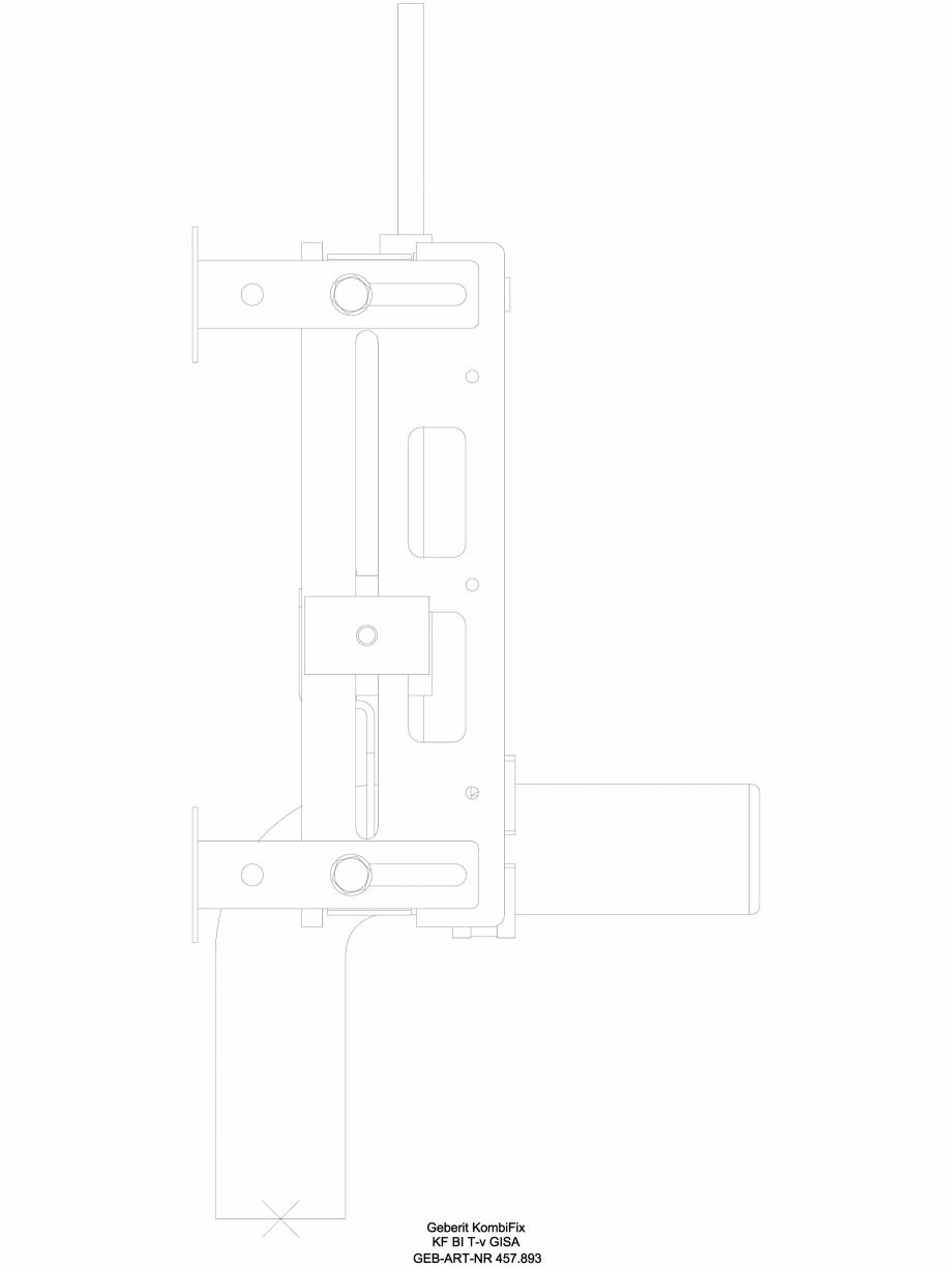 Pagina 1 - CAD-DWG Element de instalare Geberit Kombifix pentru bideu, universal cod 457.893.00.1_L ...