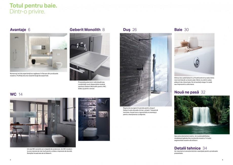 Pagina 3 - Design inteligent pentru baie Geberit GEBERIT AquaClean, DuoFresh, Monolith Catalog,...