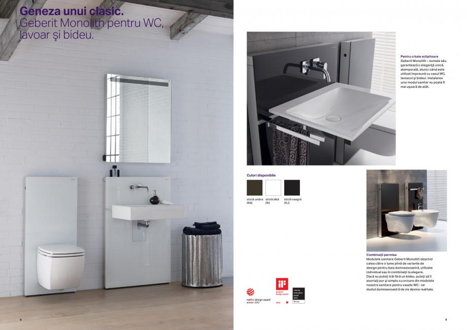 Pagina 5 - Design inteligent pentru baie Geberit GEBERIT AquaClean, DuoFresh, Monolith Catalog,...