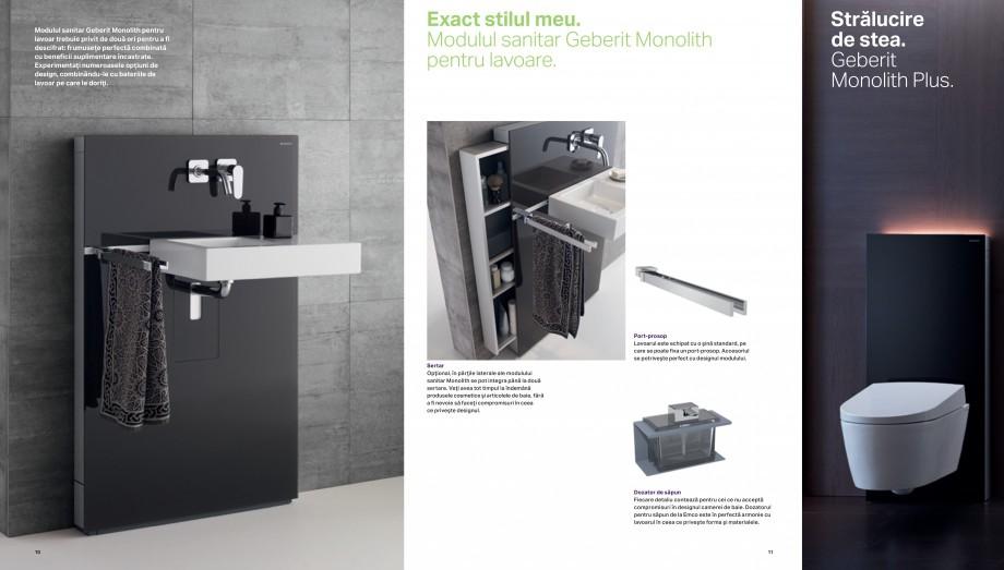 Pagina 6 - Design inteligent pentru baie Geberit GEBERIT AquaClean, DuoFresh, Monolith Catalog,...