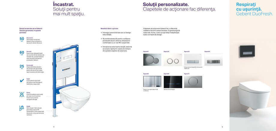 Pagina 8 - Design inteligent pentru baie Geberit GEBERIT AquaClean, DuoFresh, Monolith Catalog,...