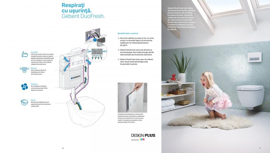 Pagina 9 - Design inteligent pentru baie Geberit GEBERIT AquaClean, DuoFresh, Monolith Catalog,...
