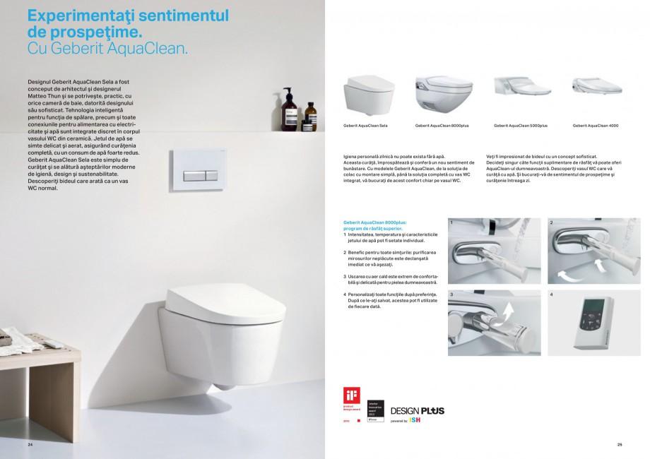 Pagina 13 - Design inteligent pentru baie Geberit GEBERIT AquaClean, DuoFresh, Monolith Catalog,...
