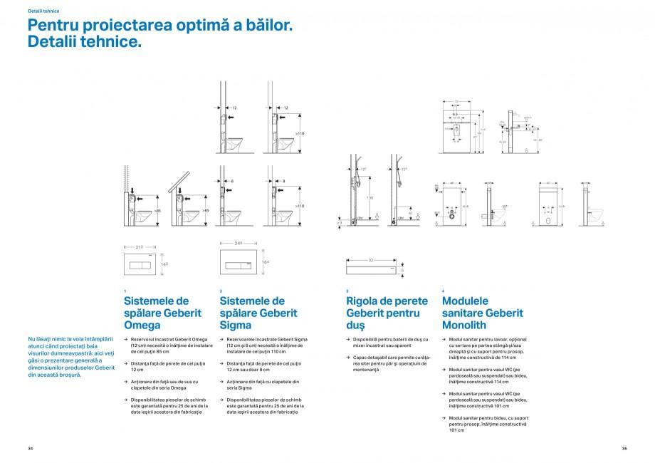 Pagina 18 - Design inteligent pentru baie Geberit GEBERIT AquaClean, DuoFresh, Monolith Catalog,...