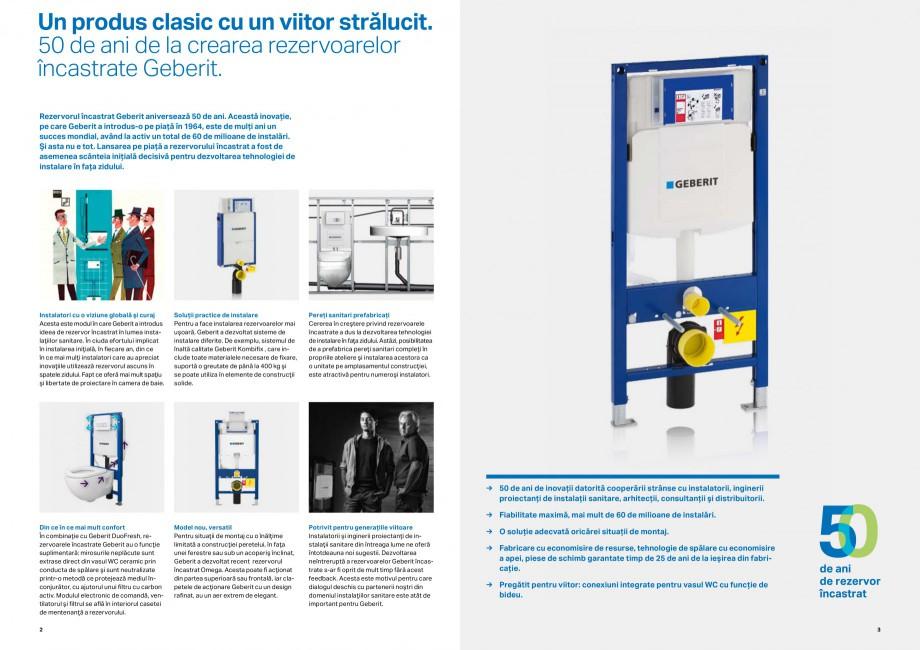Pagina 2 - Rezervorul incastrat Geberit aniverseaza 50 de ani GEBERIT Duofix, Kombifix Catalog,...