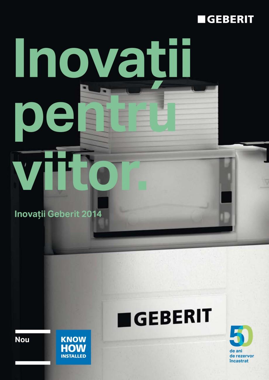 Pagina 1 - Inovatii pentru viitor Geberit GEBERIT Duofix, Kombifix, Monolith, AquaClean Catalog,...
