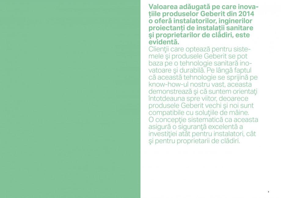 Pagina 2 - Inovatii pentru viitor Geberit GEBERIT Duofix, Kombifix, Monolith, AquaClean Catalog,...