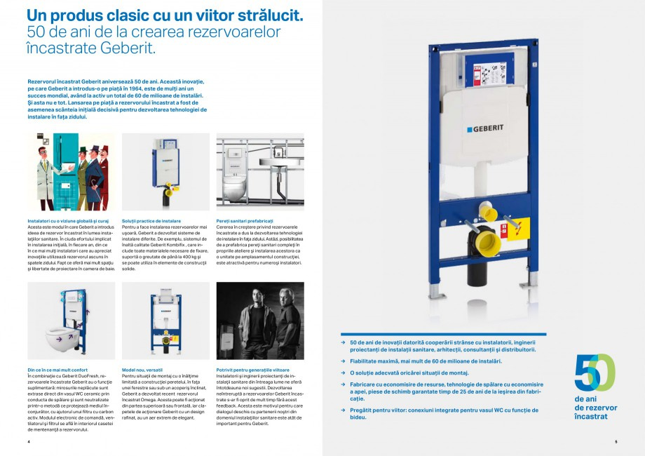 Pagina 3 - Inovatii pentru viitor Geberit GEBERIT Duofix, Kombifix, Monolith, AquaClean Catalog,...