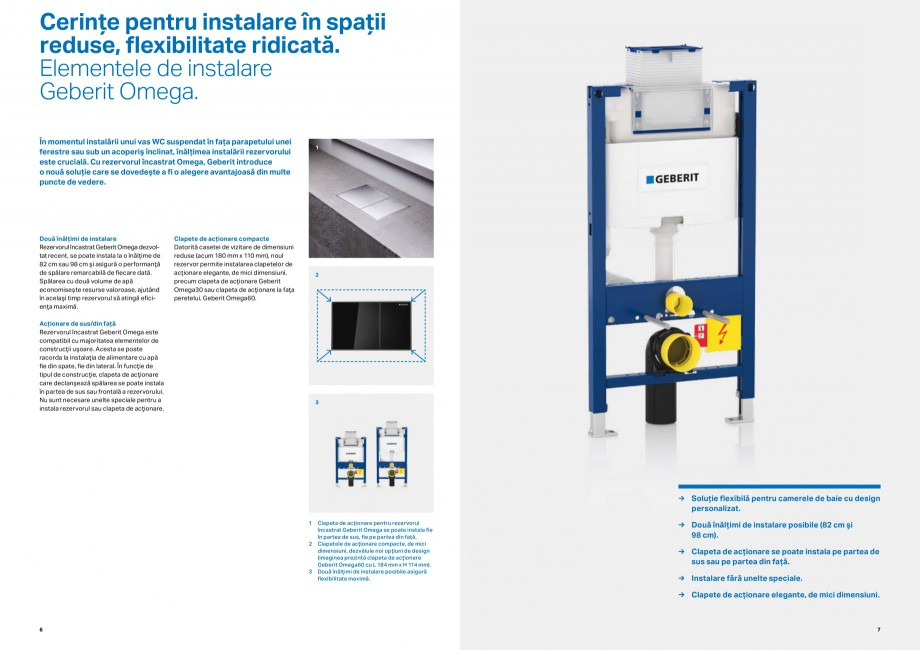 Pagina 4 - Inovatii pentru viitor Geberit GEBERIT Duofix, Kombifix, Monolith, AquaClean Catalog,...