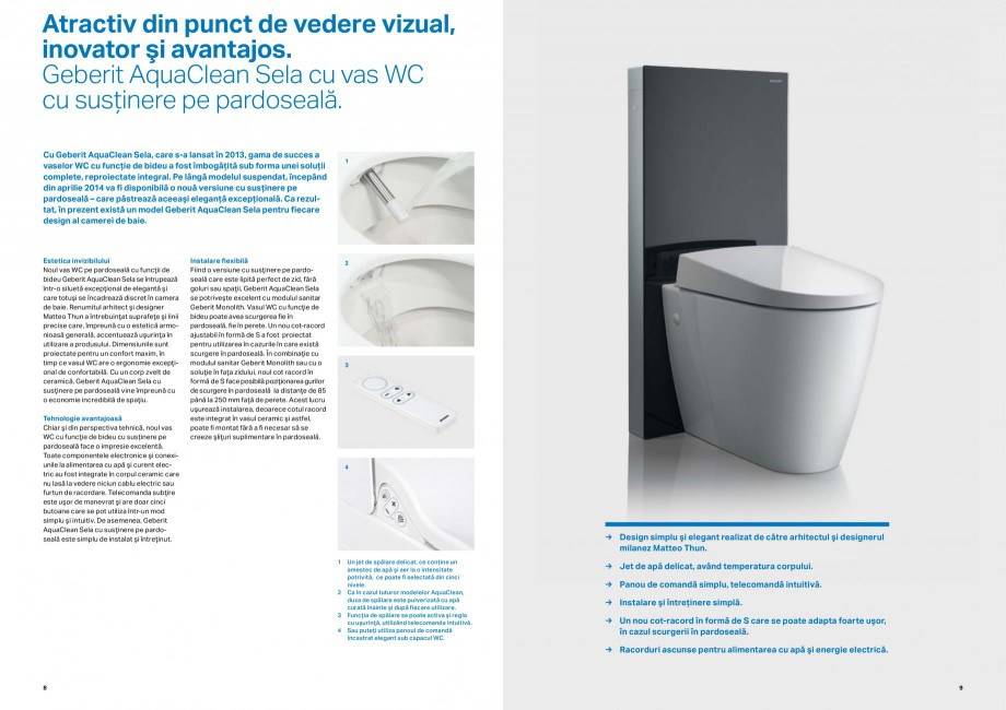 Pagina 5 - Inovatii pentru viitor Geberit GEBERIT Duofix, Kombifix, Monolith, AquaClean Catalog,...