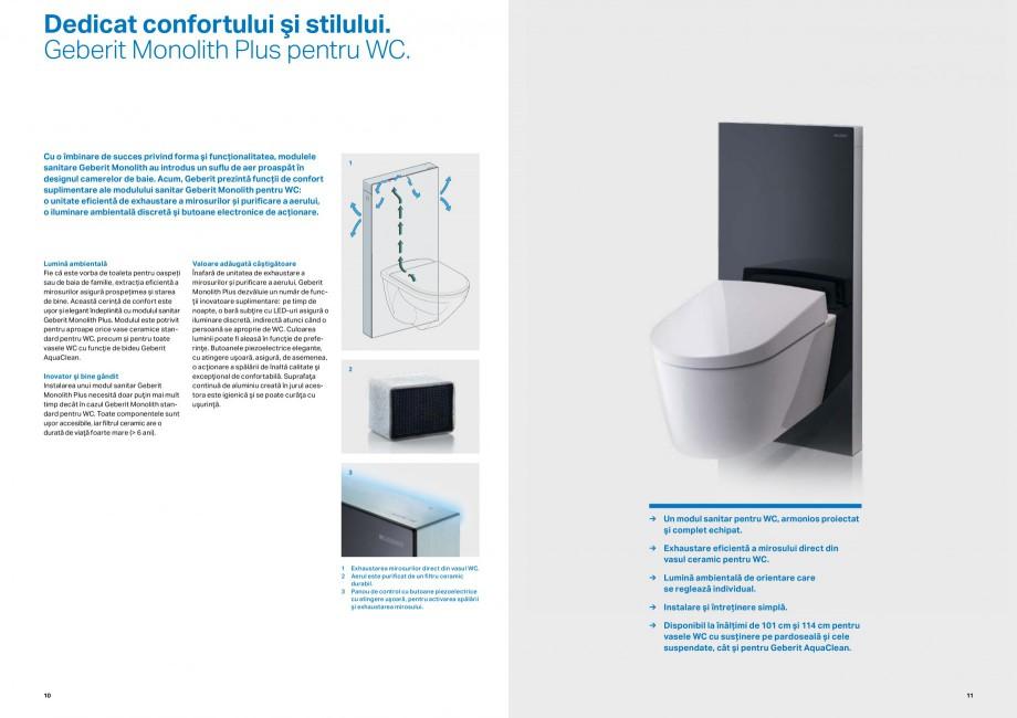 Pagina 6 - Inovatii pentru viitor Geberit GEBERIT Duofix, Kombifix, Monolith, AquaClean Catalog,...
