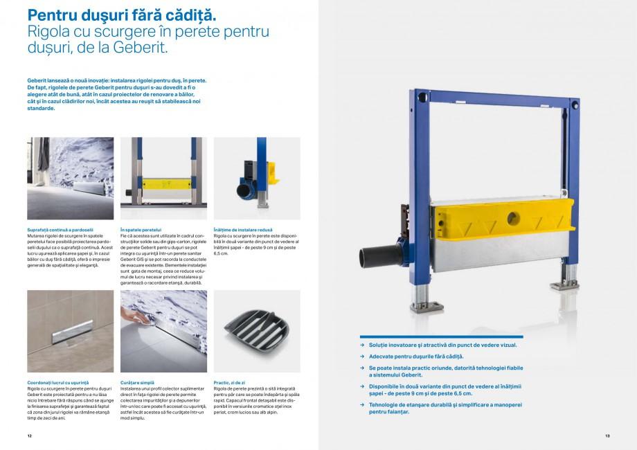 Pagina 7 - Inovatii pentru viitor Geberit GEBERIT Duofix, Kombifix, Monolith, AquaClean Catalog,...