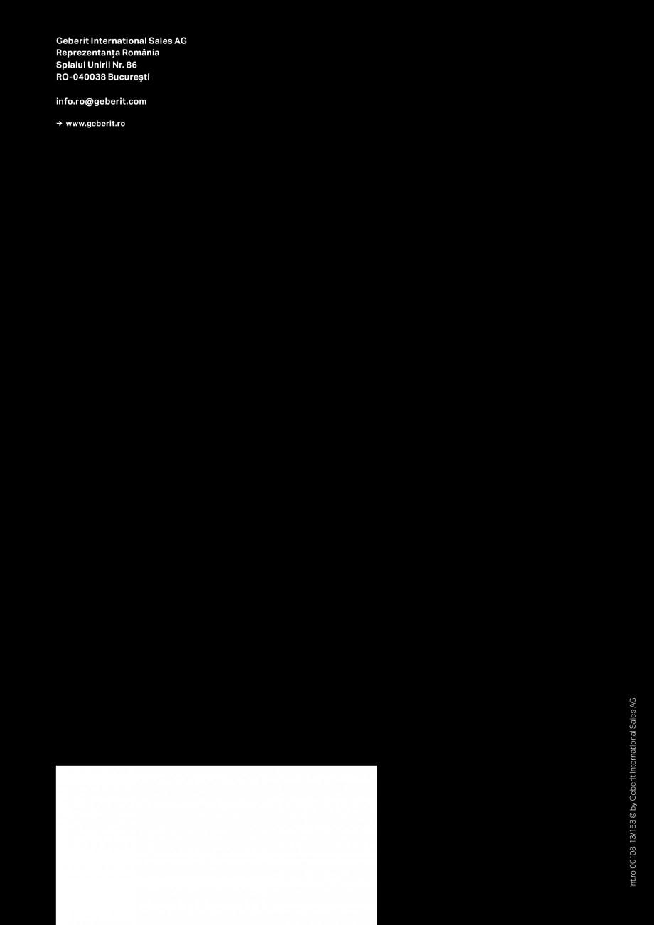 Pagina 13 - Inovatii pentru viitor Geberit GEBERIT Duofix, Kombifix, Monolith, AquaClean Catalog,...