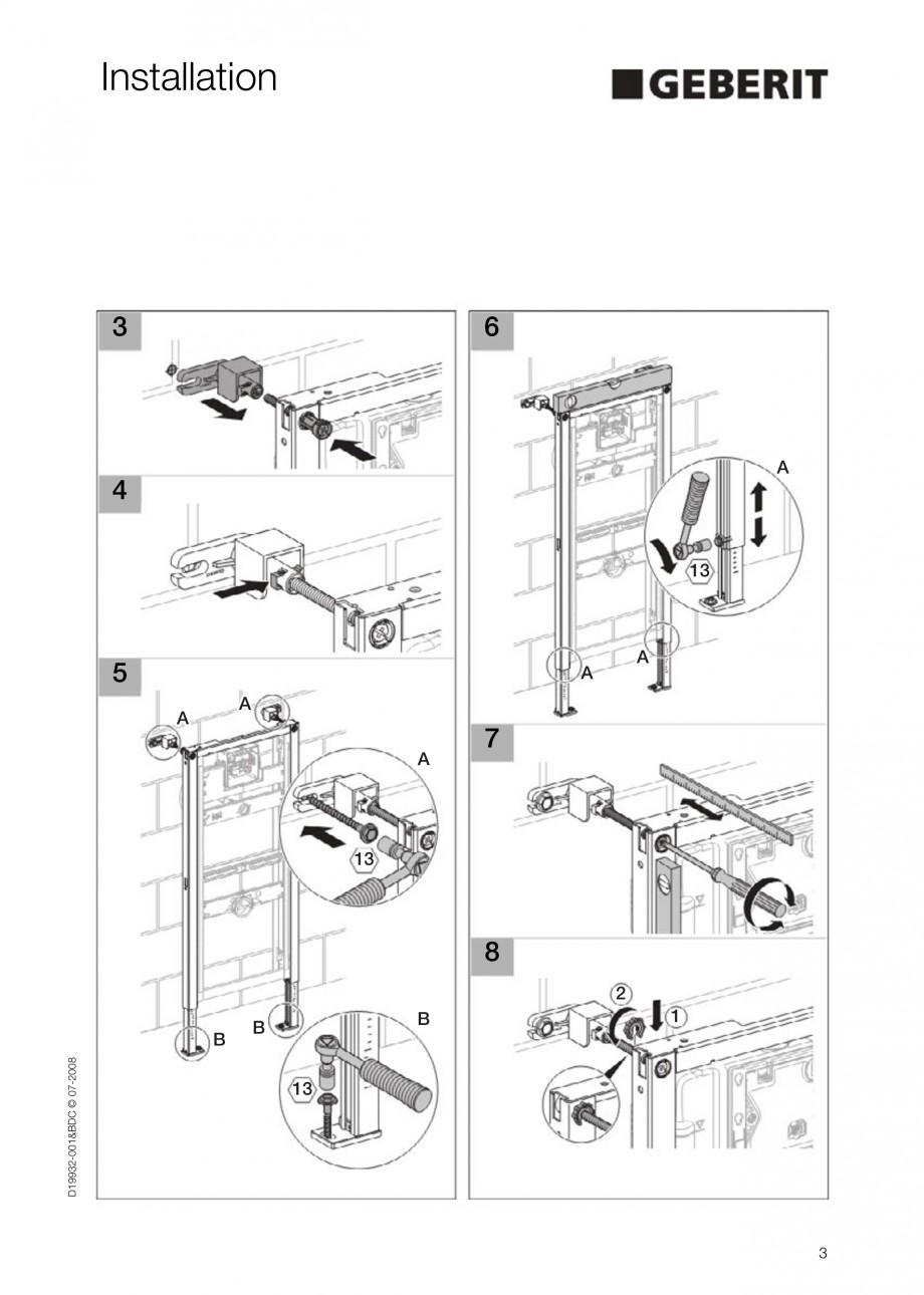 Pagina 3 - Rezervor incastrat Duofix pentru pisoar  GEBERIT Instructiuni montaj, utilizare Engleza