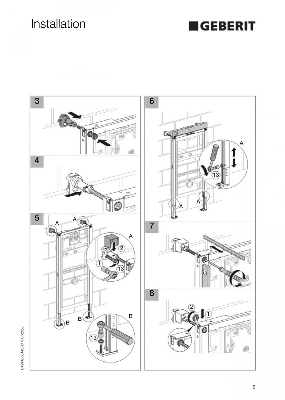 Pagina 5 - Rezervor incastrat Duofix pentru pisoar  GEBERIT Instructiuni montaj, utilizare Engleza