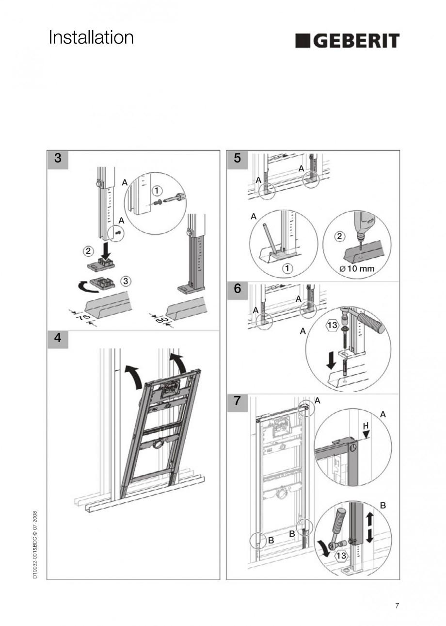 Pagina 7 - Rezervor incastrat Duofix pentru pisoar  GEBERIT Instructiuni montaj, utilizare Engleza