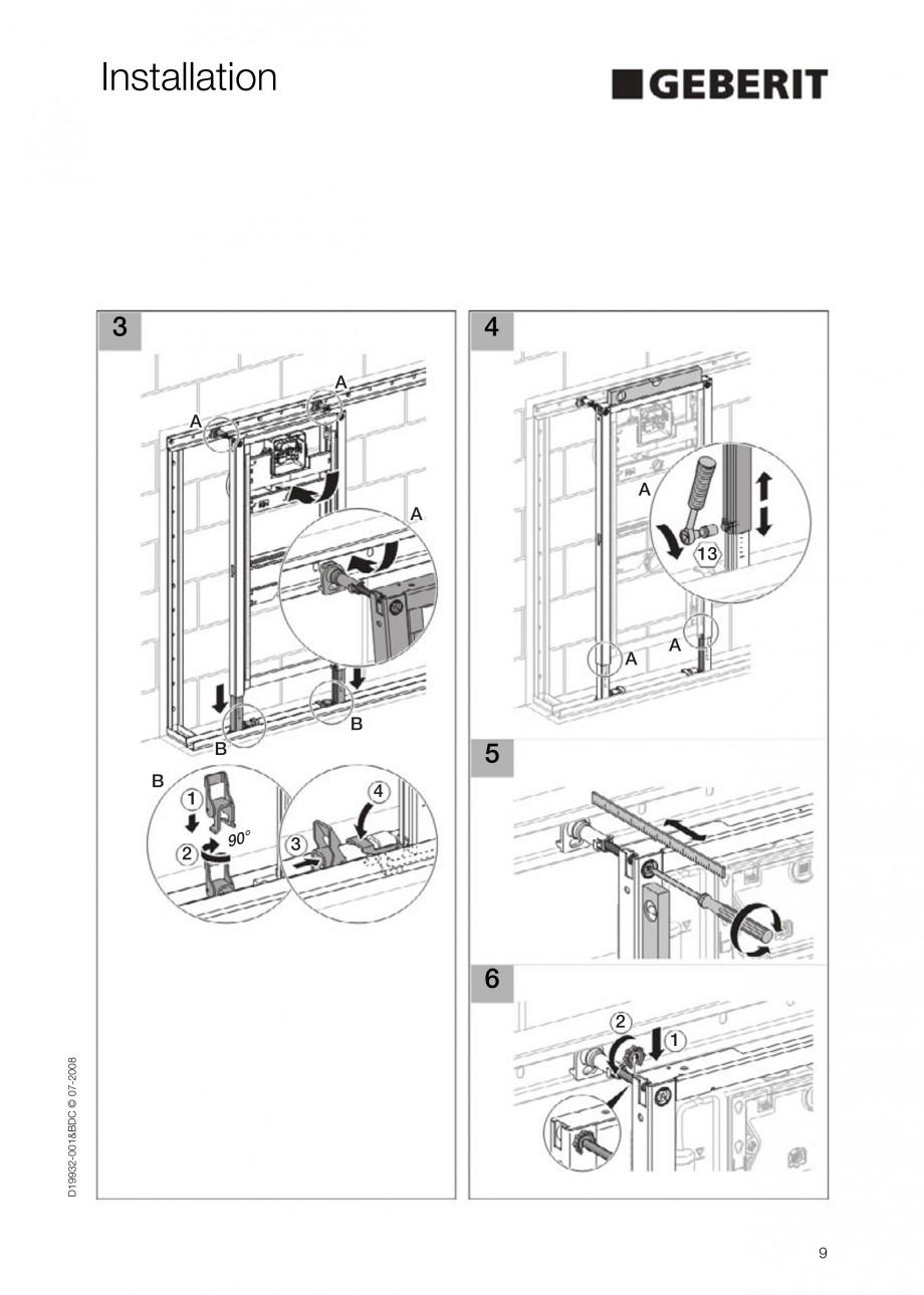 Pagina 9 - Rezervor incastrat Duofix pentru pisoar  GEBERIT Instructiuni montaj, utilizare Engleza