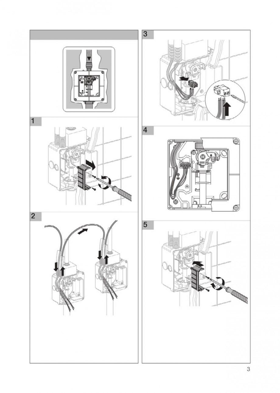 Pagina 3 - Rezervor incastrat Kombifix pentru pisoar GEBERIT Instructiuni montaj, utilizare Engleza,...