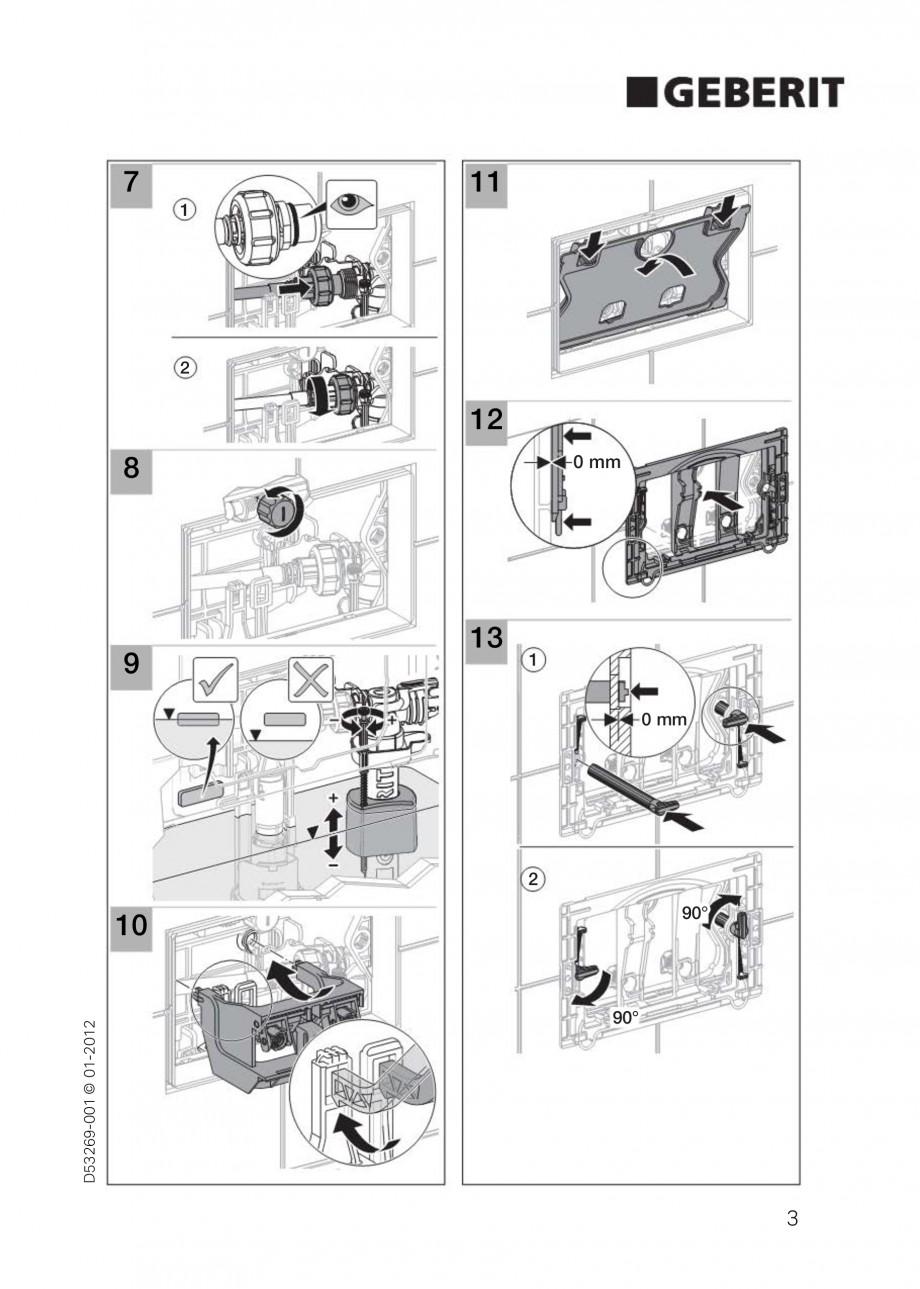 Pagina 3 - Clapete de actionare Geberit Sigma GEBERIT Instructiuni montaj, utilizare Germana,...