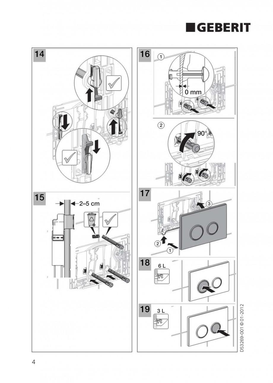 Pagina 4 - Clapete de actionare Geberit Sigma GEBERIT Instructiuni montaj, utilizare Germana,...