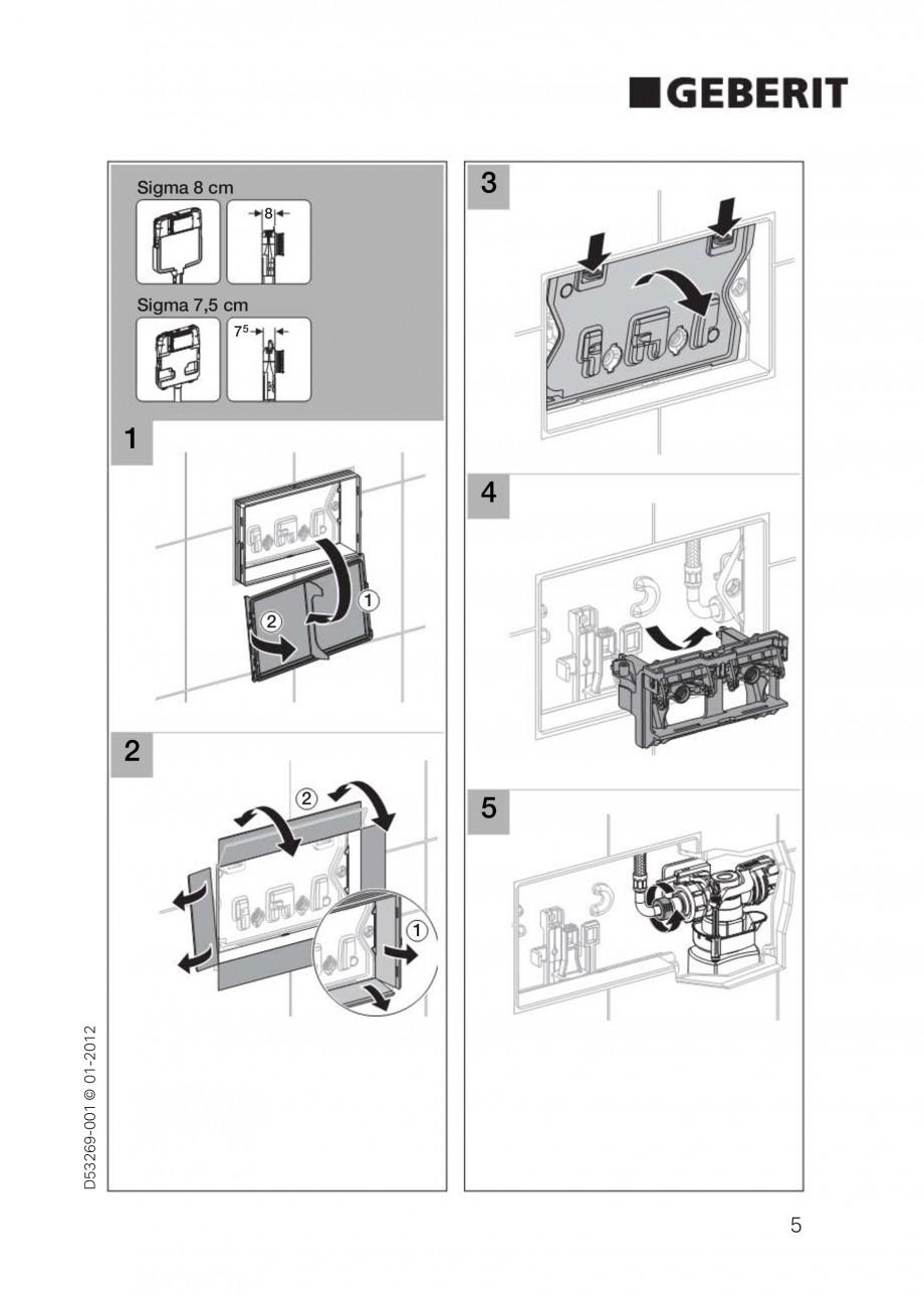Pagina 5 - Clapete de actionare Geberit Sigma GEBERIT Instructiuni montaj, utilizare Germana,...