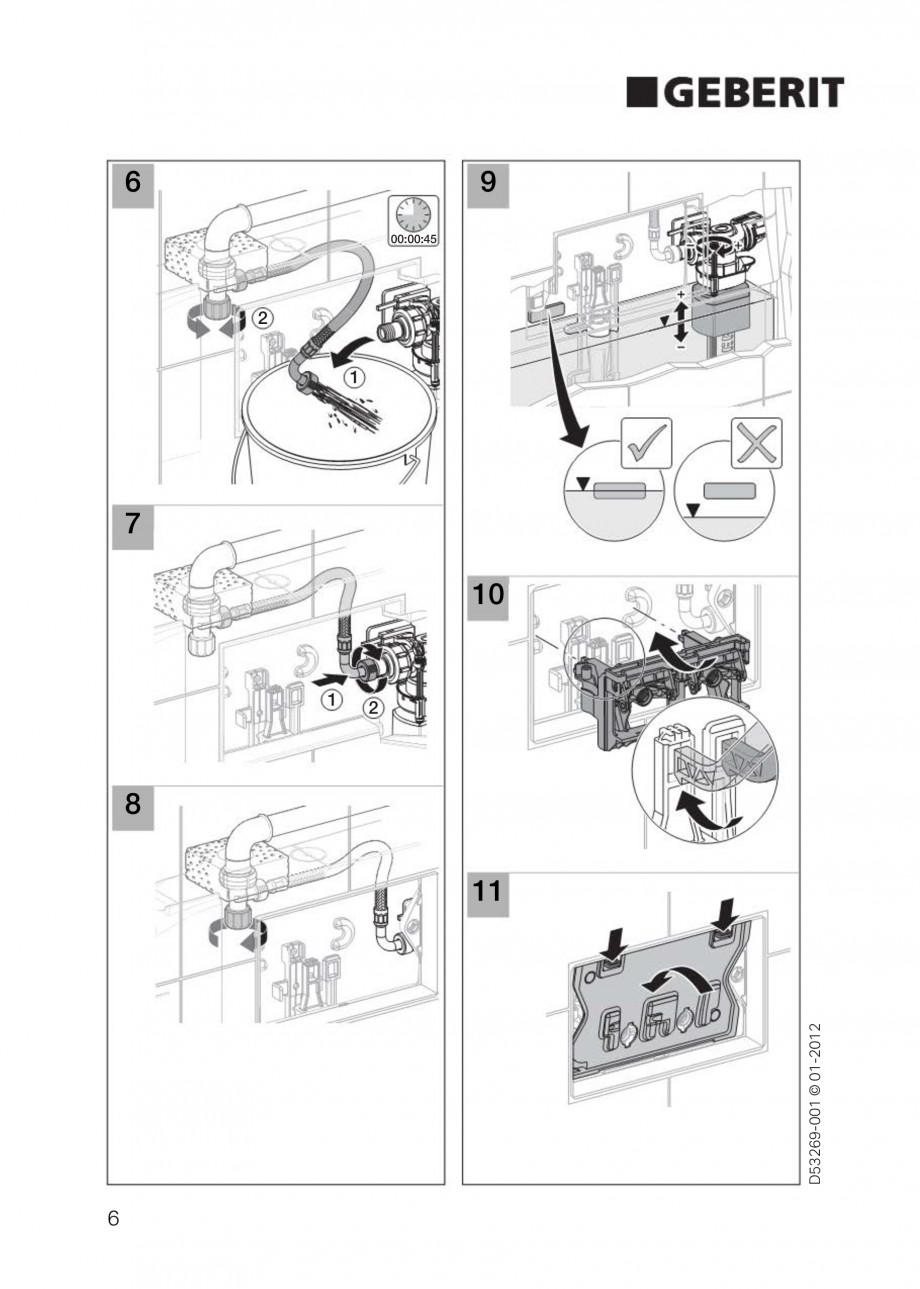 Pagina 6 - Clapete de actionare Geberit Sigma GEBERIT Instructiuni montaj, utilizare Germana,...