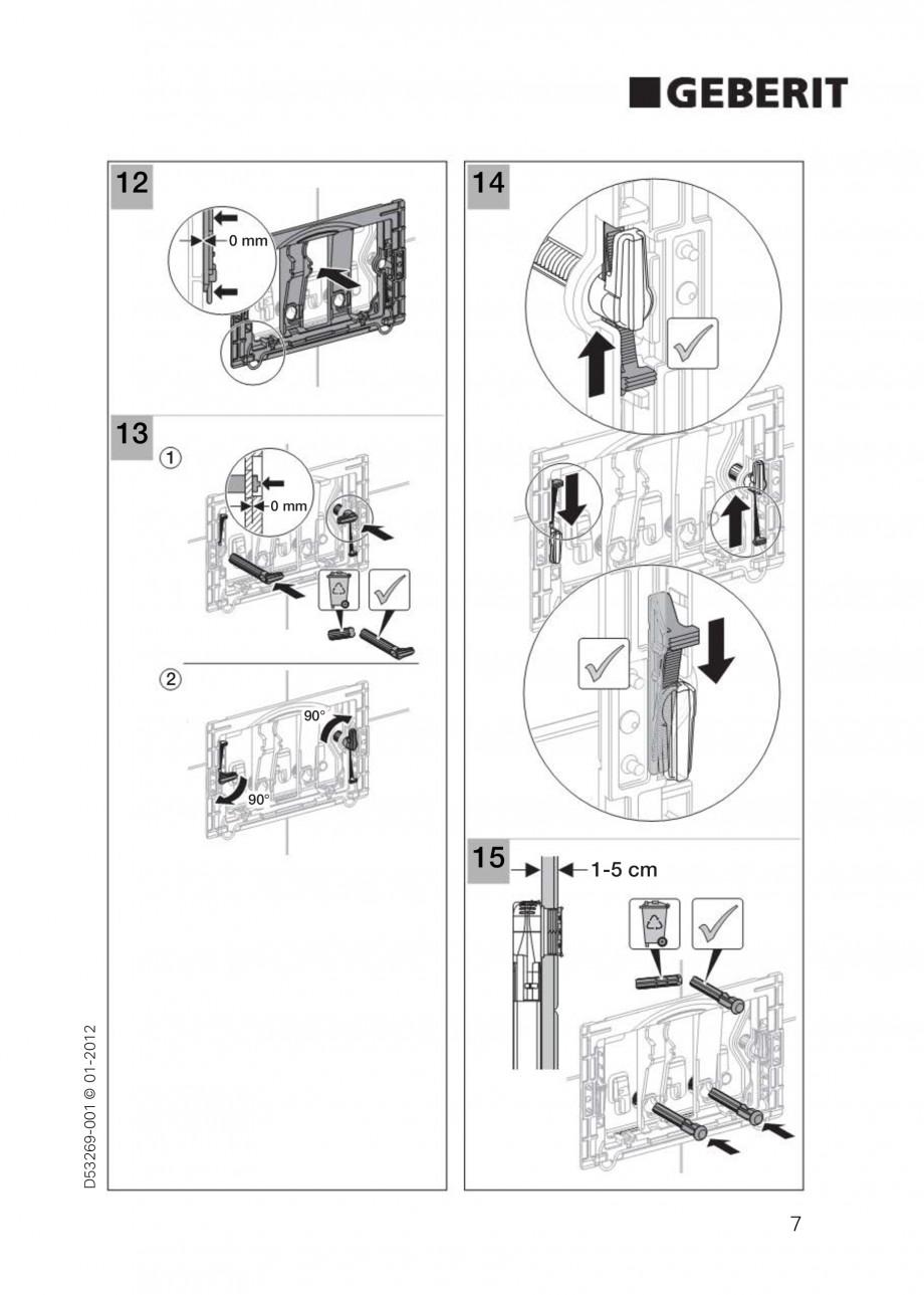 Pagina 7 - Clapete de actionare Geberit Sigma GEBERIT Instructiuni montaj, utilizare Germana,...