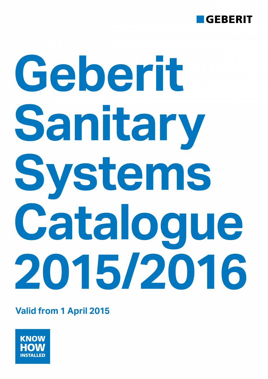 Pagina 1 - Sisteme sanitare Geberit 2015-2016 GEBERIT Kombifix, Duofix, DuoFresh, Monolith,...